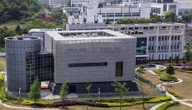 An aerial view shows the P4 laboratory at the Wuhan Institute of Virology in Wuhan in China's centra