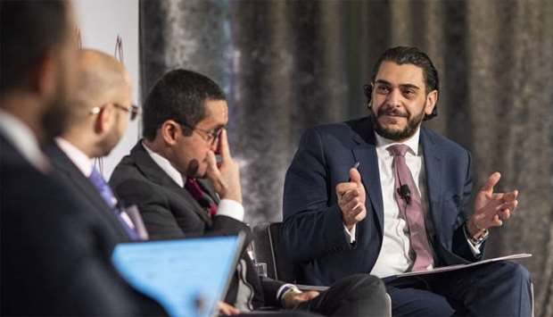 File photo shows USQBC managing director Mohamed Barakat (right) in a dialogue with Qatari officials