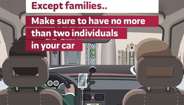 2 persons only in a car except for families: MoI