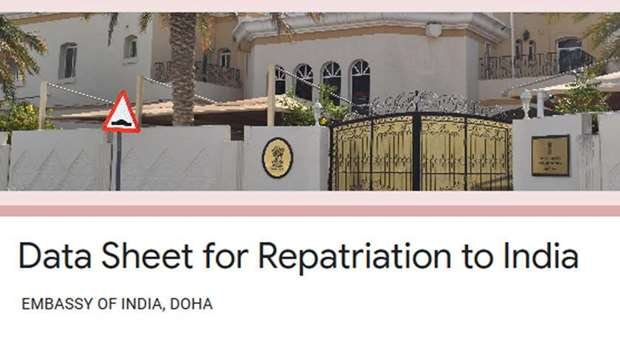 Embassy collecting data for repatriation to India
