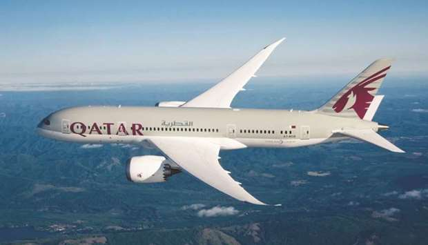 A Qatar Airways Boeing 787 Dreamliner