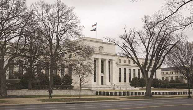 The US Federal Reserve building in Washington, DC. Foreign official holders of Treasuries dumped mor