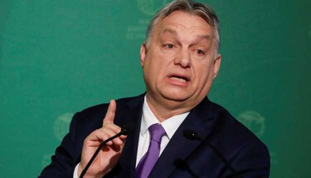 Hungarian Prime Minister Viktor Orban speaks during a business conference in Budapest, Hungary, Marc