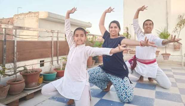 HEALTHY LIFESTYLE: Rahul, his wife Nandini and their nine-year-old son Bharat, have been practicing