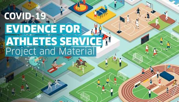 Covid-19 Evidence for Athletes Service website gateway