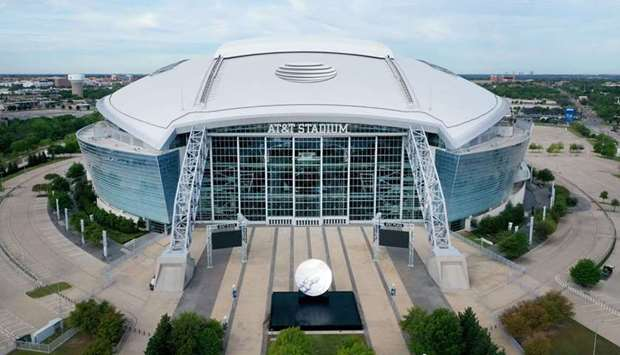 An aerial view of AT&T Stadium in Arlington, Texas. (AFP)