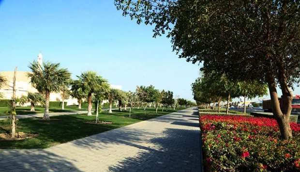 The 75,000sq m (linear) park at Al Hilal. PICTURES: Jayan Orma