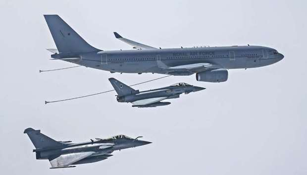 The Voyager aircraft will provide air-to-air refueling for Qatari forces aircraft