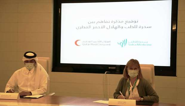 Sidra Medicine and Qatar Red Crescent Society sign MoU
