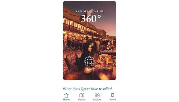The Visit Qatar App takes visitors virtually to a number of destinations with its 360-degree feature