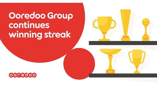 Ooredoo Group and its operating companies were recognised with more than 30 prestigious internationa