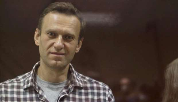 FILE PHOTO: Kremlin critic Alexei Navalny, who is accused of slandering a Russian World War Two vete