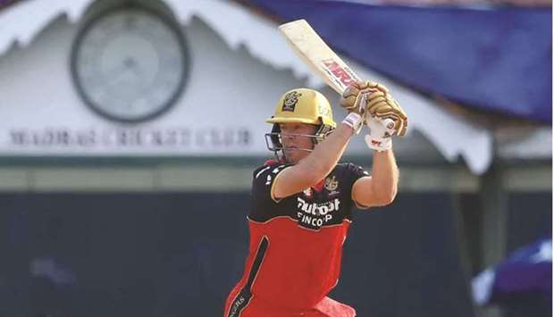 Royal Challengers Bangalore's AB de Villiers in action during the ongoing Indian Premier League. (IP