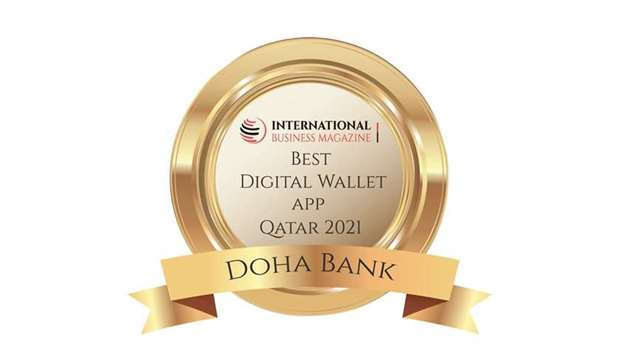 Doha Bank has won the 'Best Digital Wallet App Qatar 2021' award for its commitment to provide clien