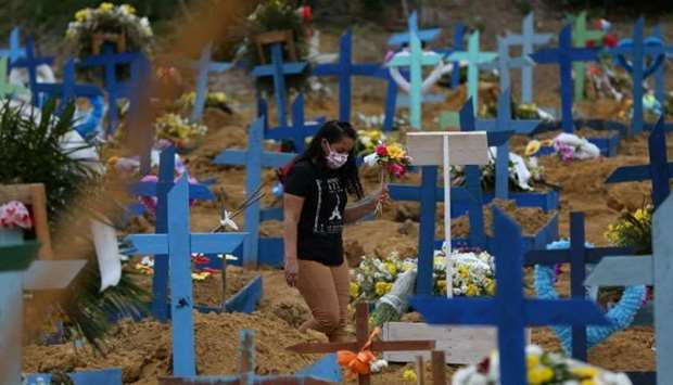 Brazil has held collective burials for those who have died of coronavirus. (Reuters)