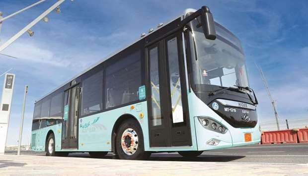 A fleet of new buses is boosting Qatar's public transport infrastructure. About 20% of the buses are