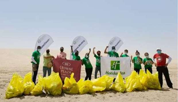 Crowne Plaza, Holiday Inn partner up with DEAP for beach clean-up