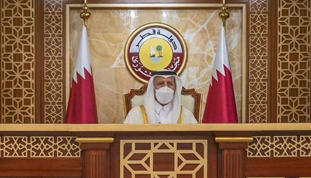 The Shura Council held its regular weekly meeting on Monday, under the chairmanship of HE the Speake