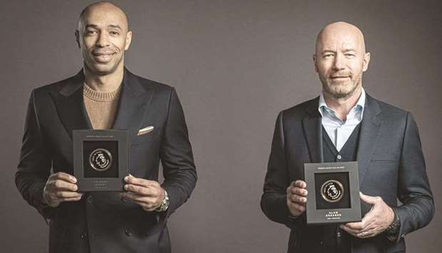 Thierry Henry (left) and Alan Shearer.