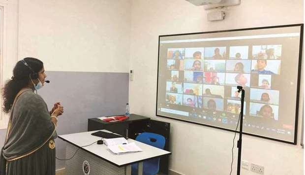 The second campus of MES Indian School (MESIS), Abu Hamour branch, started its virtual classes recen