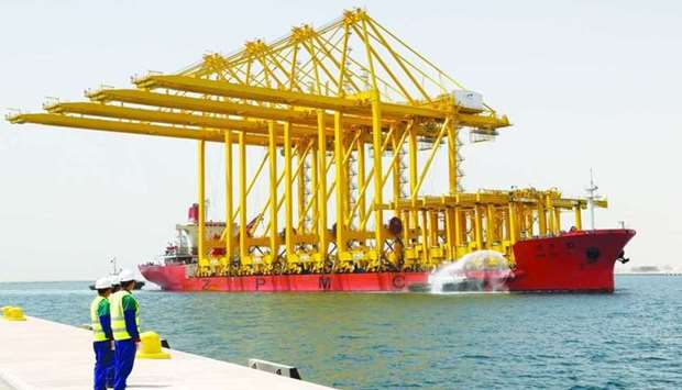 The general cargo movement through the three Qatari ports saw a stupendous 68.57% year-on-year surge