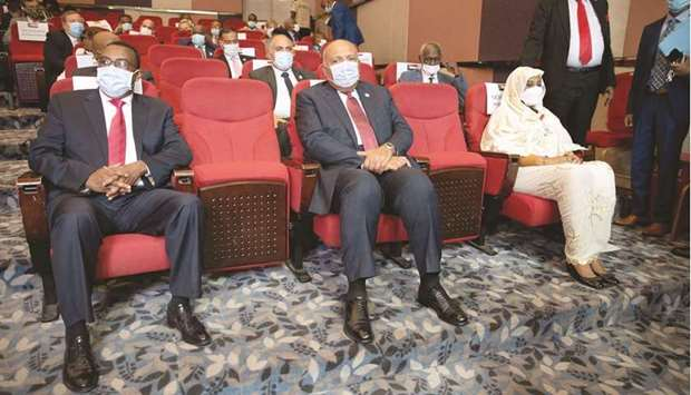 Ethiopia's Foreign Minister Demeke Mekonnen, Egypt's Foreign Minister Sameh Shoukry, and Sudan's For
