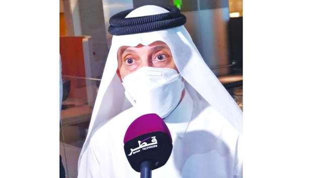 HE Akbar al-baker speaking to the media at HIA