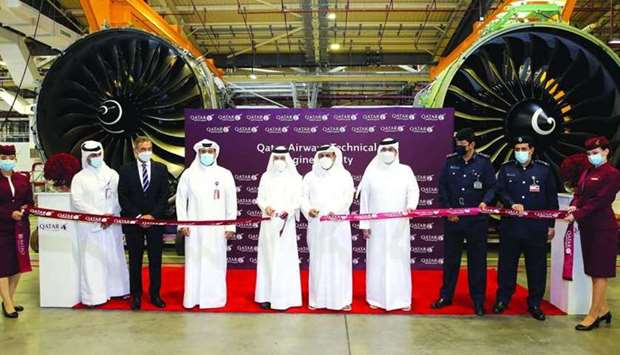 Engine Facility was officially opened by HE the Minister of Transport and Communications Jassim Saif