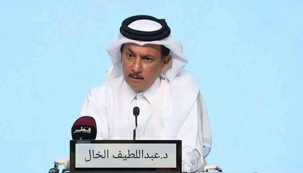 Dr Abdullatif al-Khal during the televised press conference Wednesday