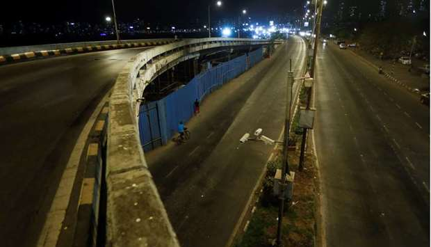 Deserted roads are seen during a curfew amidst the spread of the coronavirus disease (Covid-19) in M