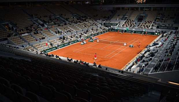 (File photo) The Roland Garros 2020 French Open tennis tournament in Paris.