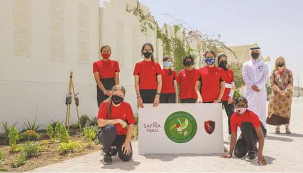 Safwa's first phase for donations was of seedlings, plants and soil and it was given to the Swiss Sc