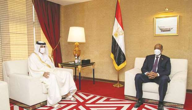 The meeting dealt with reviewing bilateral relations between the two countries, opportunities to dev