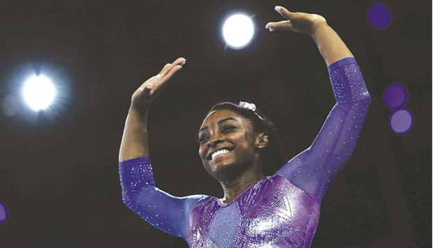 US gymnastics superstar Simone Biles