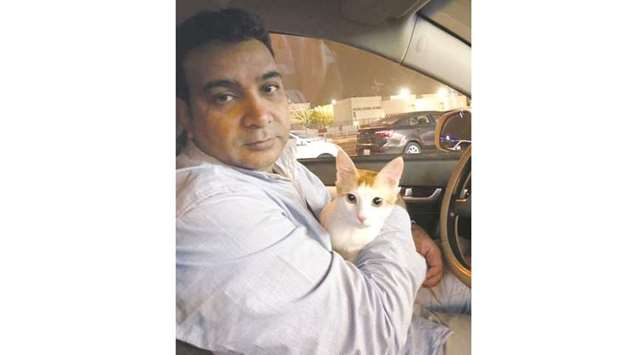 """Syed Faheem Uddin has a """"one-on-one relationship with many cats."""""""