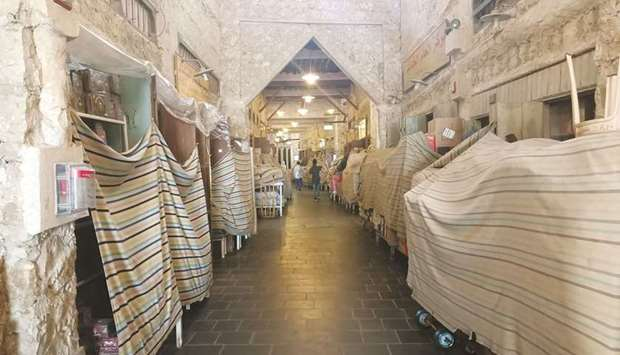 Doha's Souq Waqif stayed closed on Friday in line with the Cabinet decision to close traditional mar