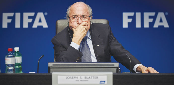 File picture of FIFA president Sepp Blatter during a press conference at the FIFA headquarters in Zu