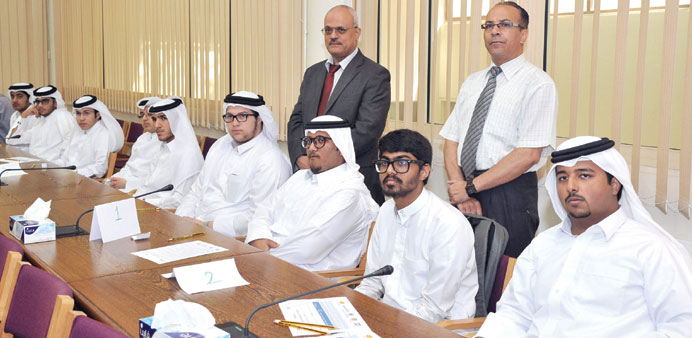 A group of students and faculty at the launch of the 10th cycle of the Al-Bairaq programme at QU.