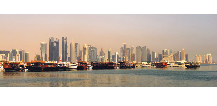 The Qatar skyline is fast changing amid a building boom.