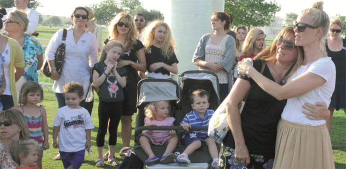 Residents gathered for a remembrance ceremony, a year after the fire on May 28 at Villaggio Mall