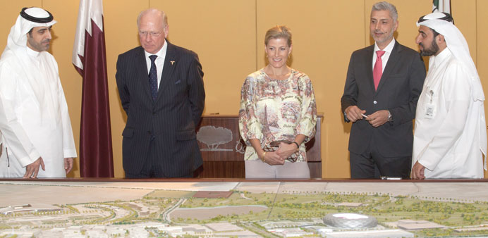 The Countess of Wessex and her delegation at Qatar Foundation.