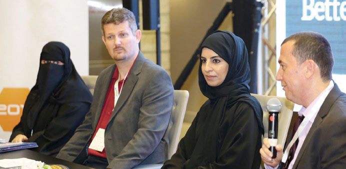 "Officials at the launch of the ""Better Connections Programme"" at Qitcom 2014 yesterday."