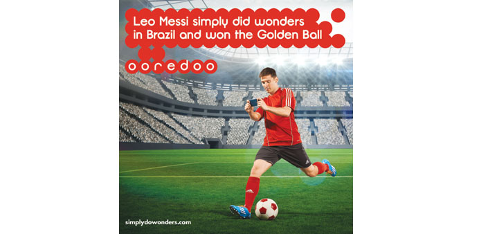 The Ooredoo advertisement featuring Lionel Messi.