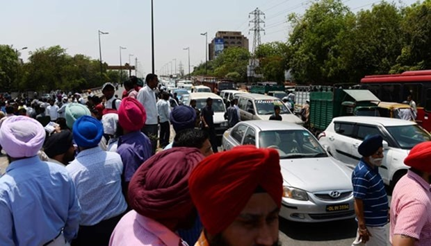 Cabbies protest