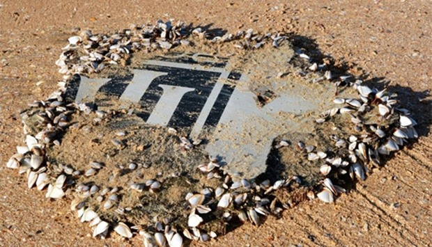A part of the aircraft engine cowling from missing Malaysia Airline flight MH370