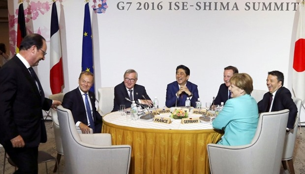 G7 leaders share a light moment