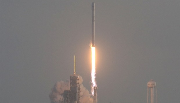 SpaceX Falcon 9 rocket launches from pad 39A