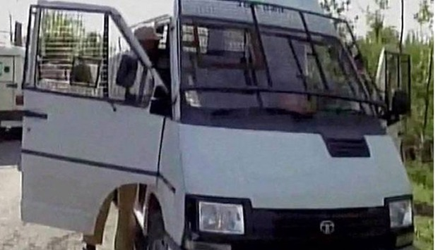Kashmir bank van attack