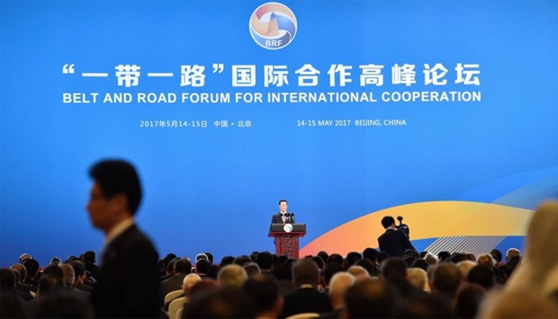 The Plenary Session of High-Level Dialogue, at the Belt and Road Forum in Beijing