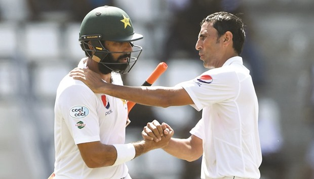 TWO OF A KIND: Misbah-ul-Haq, left, and Younis Khan.